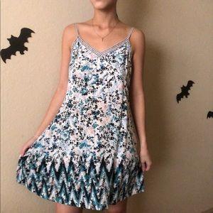 Beautiful blue colorful flow dress